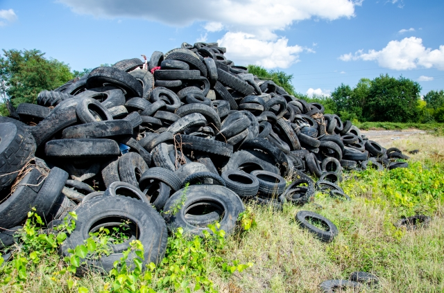 Help save the planet by buying used tires.